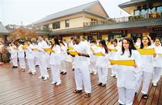 77名外国大学生到诗经里小镇感受中华文明魅力