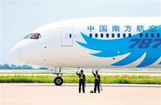 """南航波音787""""梦想客机""""首次入陕 助力陕广快线"""