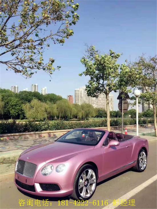 宾利欧陆gt 敞篷版 全球限量粉色浪漫款图片