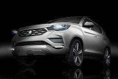双龙新SUV概念车预告图 巴黎车展亮相