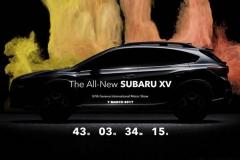 新一代斯巴鲁XV预告图发布 3月7日首发