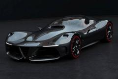 阿尔法罗密欧超跑概念车 浮夸的艺术