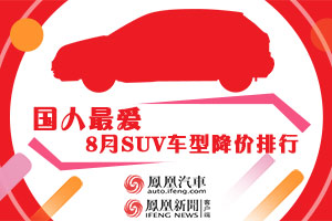 国人最爱 8月SUV车型降价排行