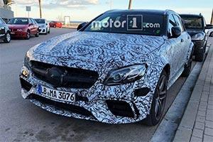新款奔驰AMG E63旅行版谍照 动力强劲