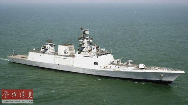 """资料图片:印度""""萨特普拉""""号护卫舰5月18日启程赴南海参加军演。"""