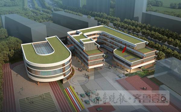 校园操场景观设计手绘立面图