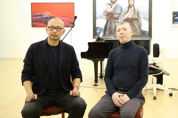 冯小刚与管虎导演合照。图片来源于网络