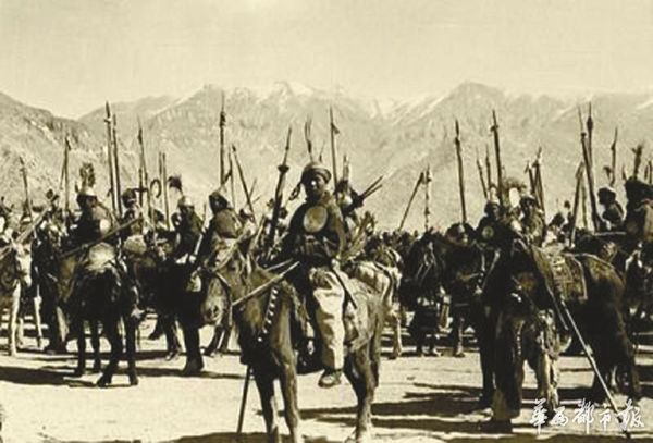 装备落后的藏军(资料图片)