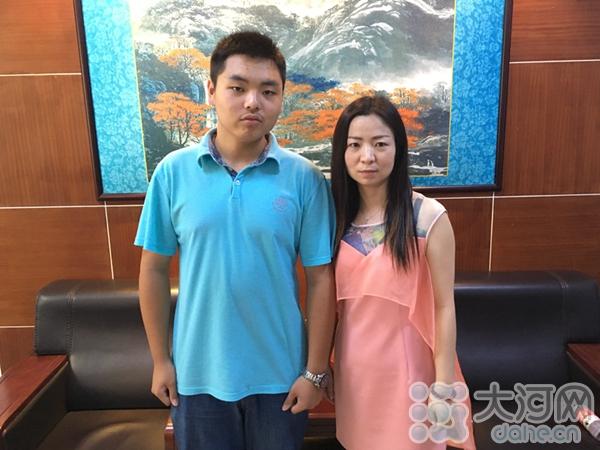 汪宇晗与班主任张莹