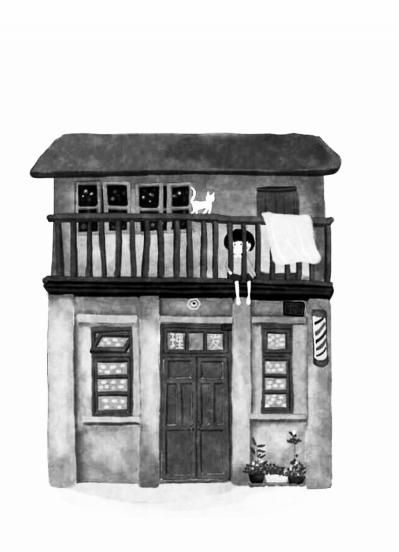 插画师手绘房子
