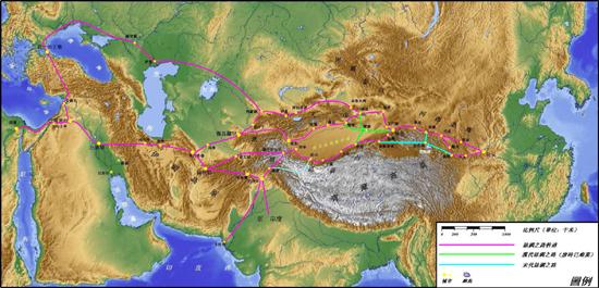 古丝绸之路地图