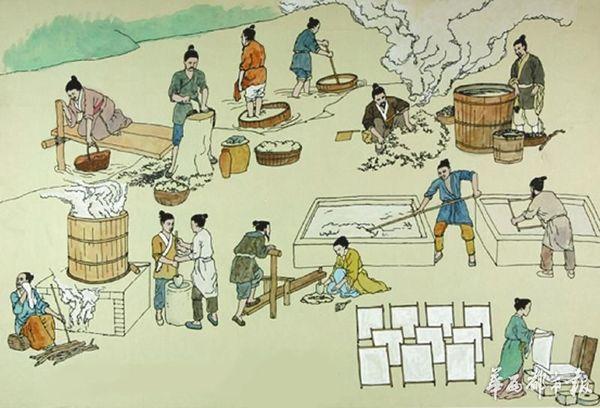 造纸技术广为传播