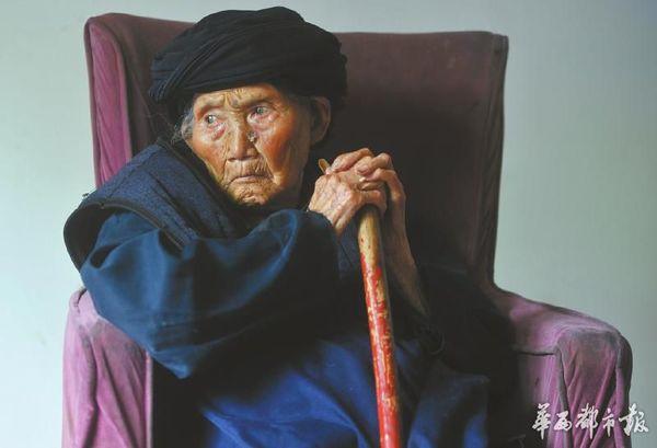 刚过了119岁生日不久,世界最长命的女性——付素清老人走了。(资料图片)