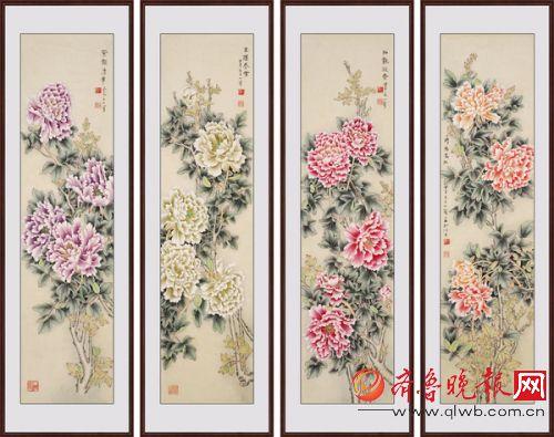 香》作品出自:易从网-王一容工笔牡丹精选 著名工笔牡丹画家
