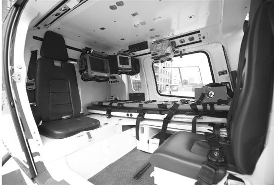 直升飞机内部