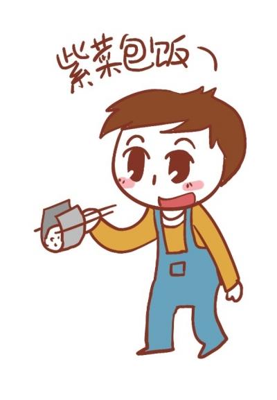 碗筷简笔画卡通-饮食男女
