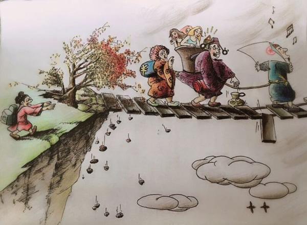 昌吉女协警手绘漫画宣传反腐廉政教育_凤凰资讯