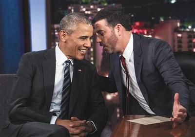 奥巴马偏爱脱口秀 在任8年参加脱口秀不下10次