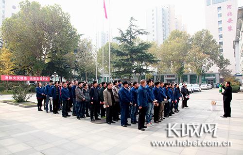 河北省送变电公司举行灭火和疏散应急处置演练