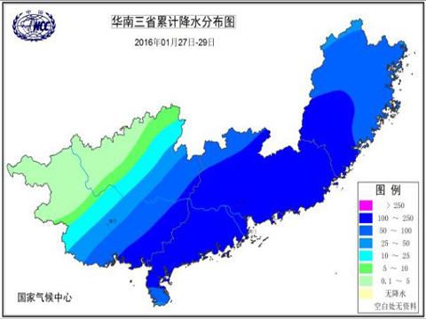 29日华南三省降水量-2016年中国十大天气气候事件备选事件