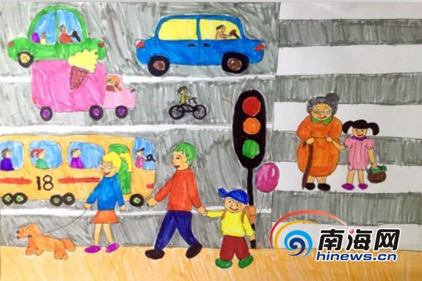 南交警有奖征集小学生交通安全绘画作品受热捧 28日将截止
