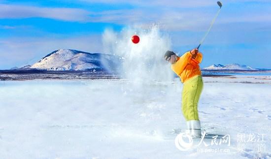 2016年冬季,五大连池风景区重磅推出火山雪地高尔夫