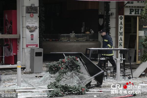 希腊首都一咖啡馆发生爆炸致1死7伤(组图)