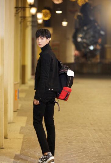 12月8日,tfboys王俊凯曝光了一组街拍写真,照片中夜晚的街道灯火辉煌