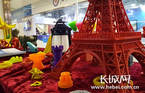 3D打印制品。长城网 宁晓雪 摄