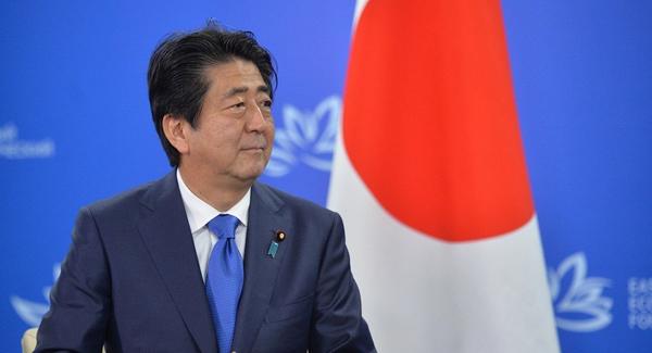 日本首相安倍晋三.来源:俄新社(网络截屏)