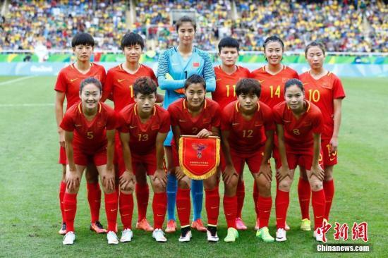 资料图:中国女足。中新网记者 富田 摄