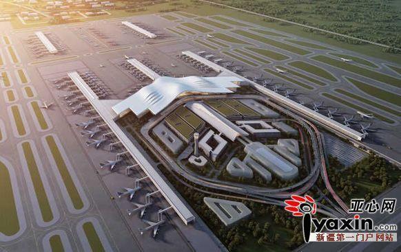 乌鲁木齐国际机场北区航站楼示意图(暂定)图/据新疆机场集团提供 2017年,新疆机场集团将加快培育机场集群,不断促进区域机场一体化发展。新建乌鲁木齐机场二、三跑道和北航站楼,使飞行区等级达到4F,将该机场打造成为汇集航空、高速公路、轨道交通、公交等多种交通方式的立体综合交通枢纽;大力发展临空经济,在机场周边形成高端科技制造及现代服务产业聚集区,使乌鲁木齐航空枢纽成为助力新疆地区经济社会发展和产业升级的重要平台。同时,提高吐鲁番、克拉玛依、石河子等机场间的地面运输服务水平,增强航班保障和备降能力;将吐鲁番
