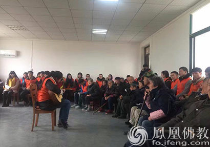 咸安佛协2017年新春慰问孤残人士 精准扶贫20余万元