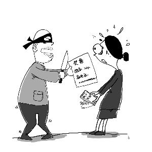 笨贼冒充快递抢劫 用真名和身份证号打下欠条
