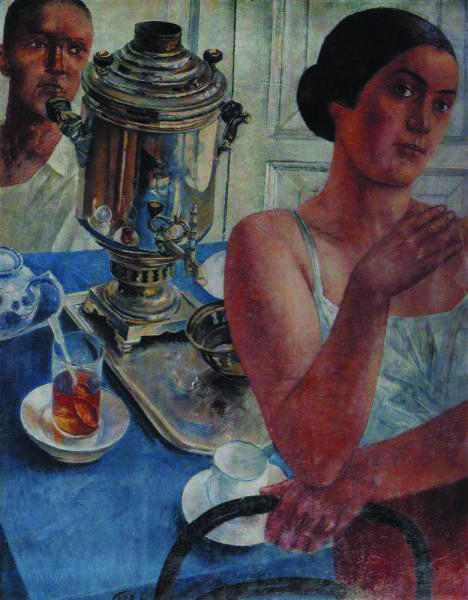 苏联老大哥在喝茶 苏联时期的俄罗斯绘画图片