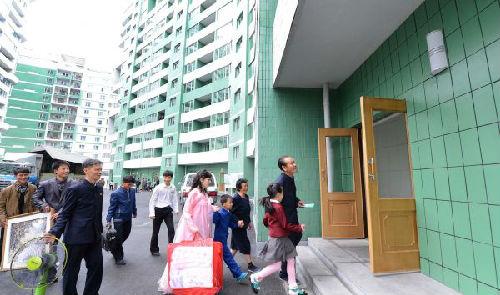 资料图:朝鲜平壤市黎明大街新华社/朝中社