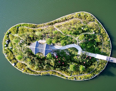 航拍河南黄柏山国家森林公园 山清水秀