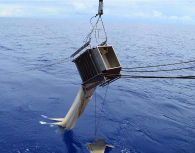 """""""""""科学""""号在西太平洋卡罗琳海山开展水体与生态调查"""""""