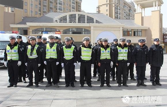 开封一体化示范区领导春节前看望慰问一线公安干警、环卫工人