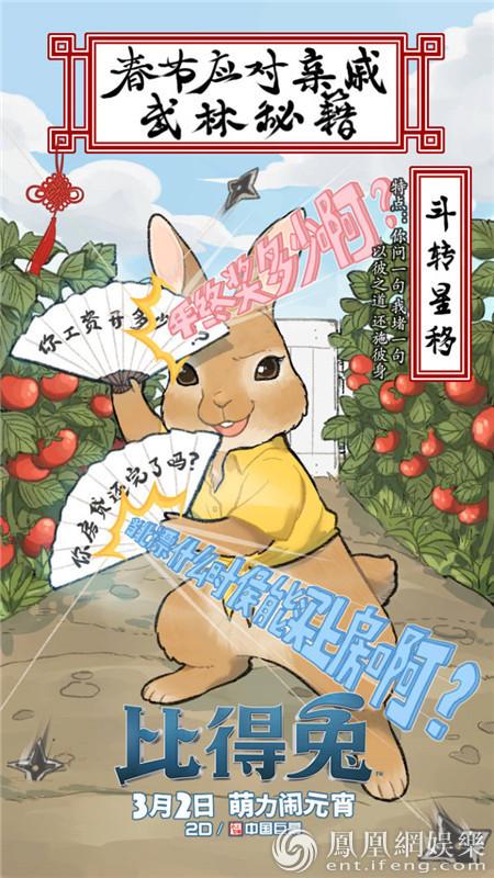 《比得兔》过年萌态百出 新片段爆笑开启上映倒计时