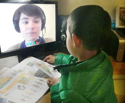 英语教师给孩子选择说客英语在线教育课堂_凤