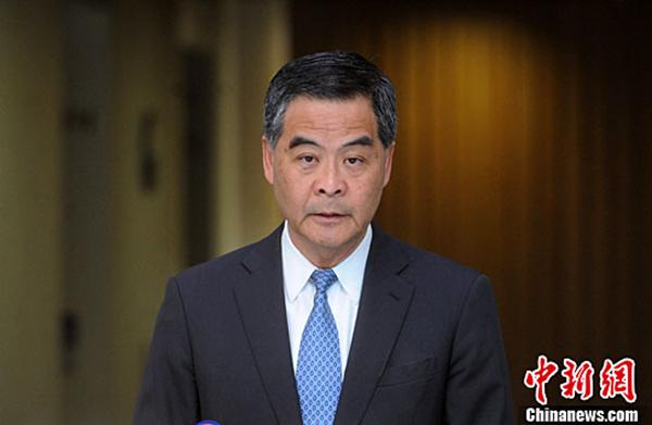 梁振英正式宣布不连任 国务院港澳办回应