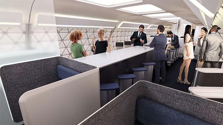 空客提出新概念客舱,未来的飞机还有水疗区和健身房
