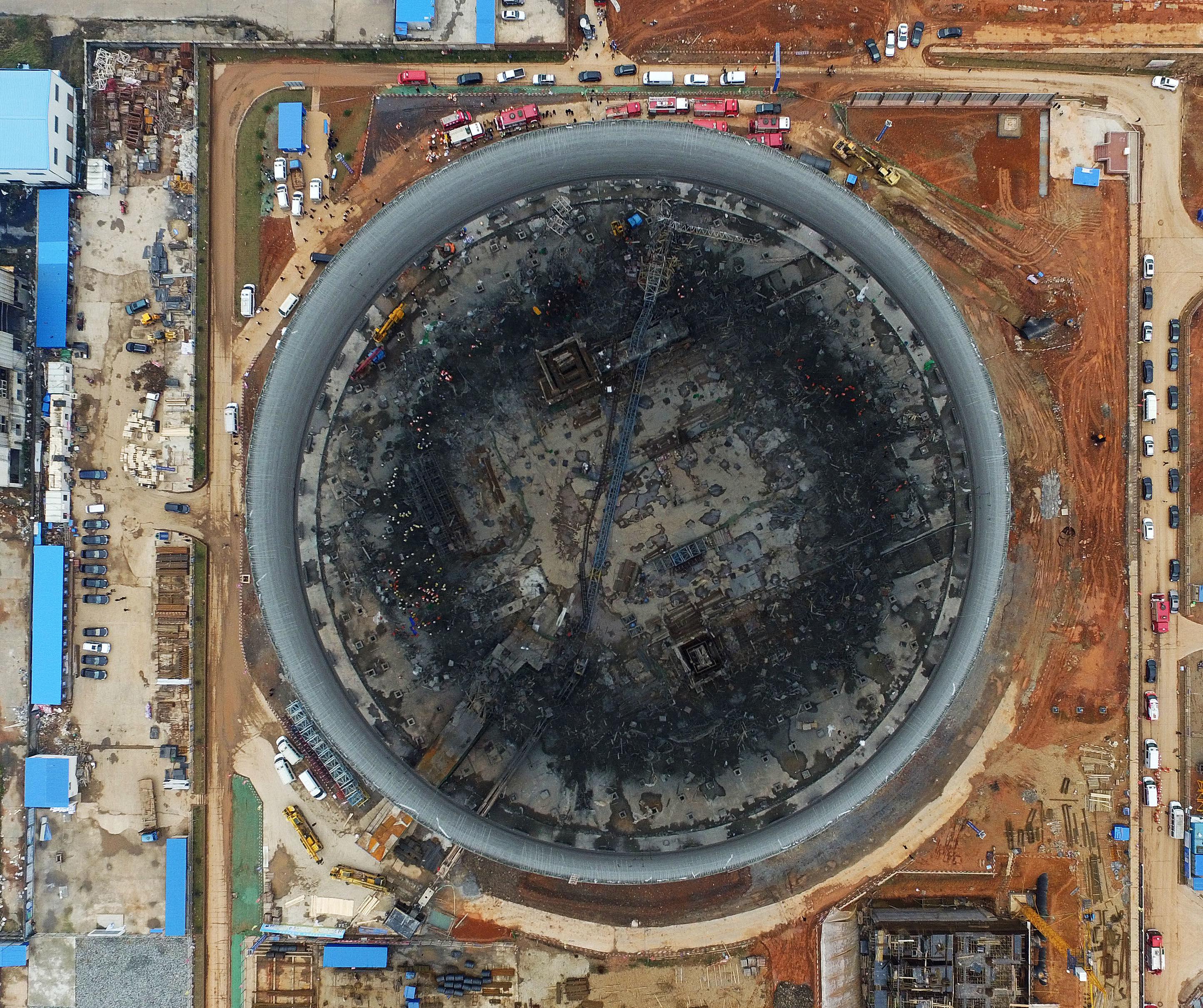 江西丰城电厂冷却塔施工平桥倒塌事故
