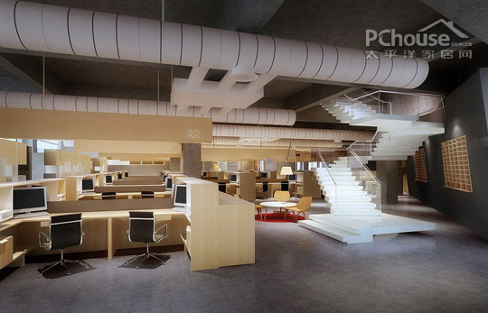 三层办公区设计