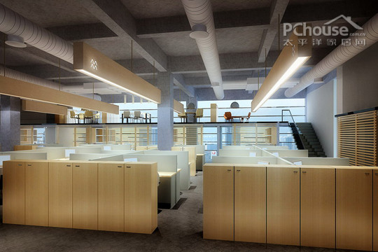 四层办公区设计