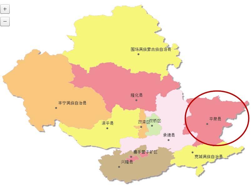 平泉市由河北省直辖,承德市代管