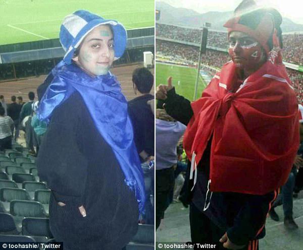 伊朗8名女子女扮男装看球赛被逮捕 (图)