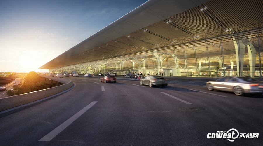 西安波涛项波车祸现场-西安咸阳国际机场东航站楼(T5航站楼)规划设计图.-未来机场 长啥