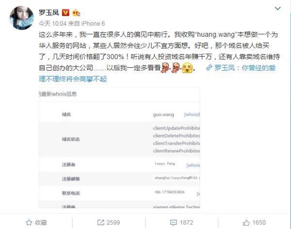 """凤姐""""黄网""""翻300%卖了她说还要挣它个几百万"""